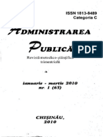 Revista Administrarea Public Ianuarie-martie 2010 Nr. 1 65