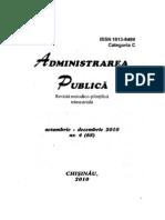 Revista Administrarea Public Octombrie-Decembrie 2010 Nr. 4 68