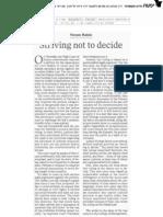 "yoram Rabin ""Striving not to decide"""