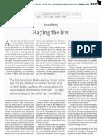 Yoram Rabin, Raping the Law
