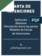 MODELO DE CARTA DE INTENCIONES