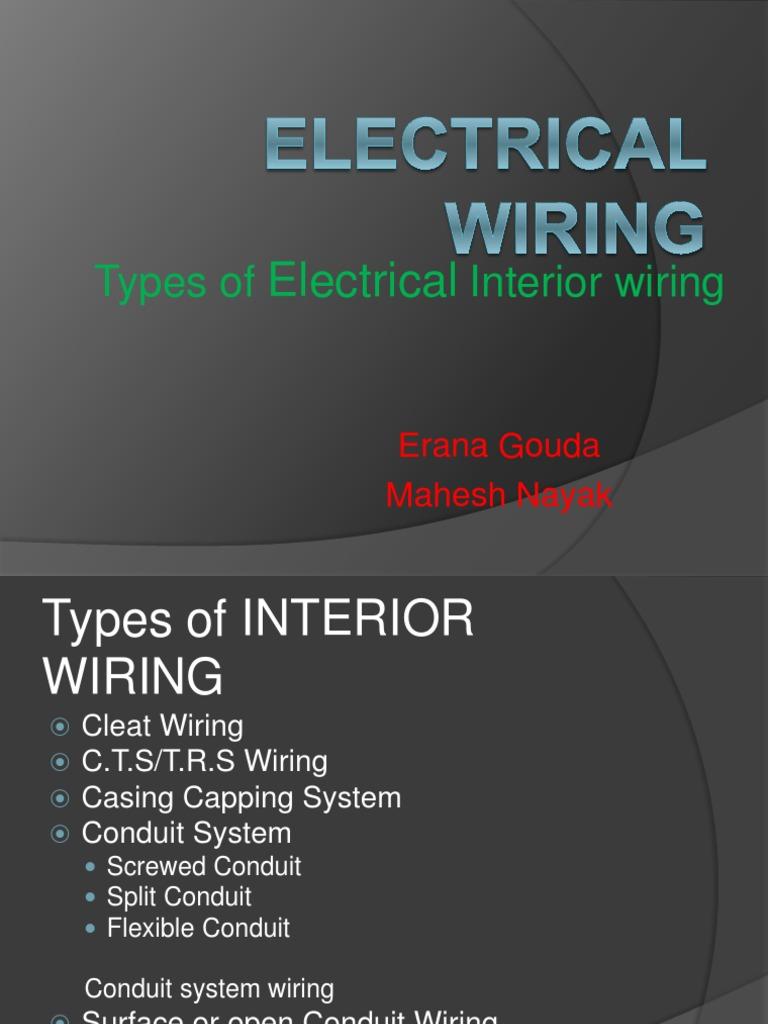 Electrical Wiring Conduit