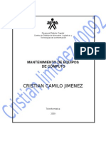 Mec40092evidencia025 Cristian Jimemez - Instalacion Sistema Operativo y Antivirus
