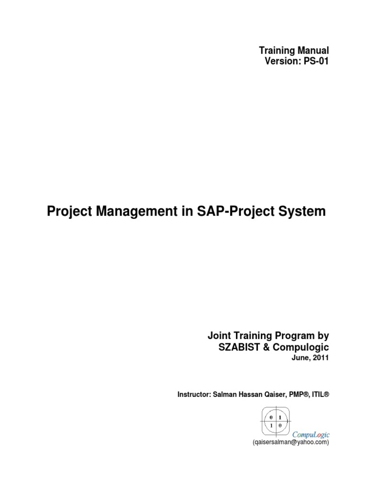 Sap project systems manual project management industries xflitez Image collections