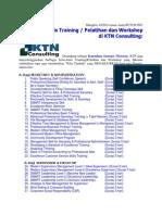 Jenis Training/ Pelatihan dan Workshop_di KTN Consulting - Bandung & Jakarta
