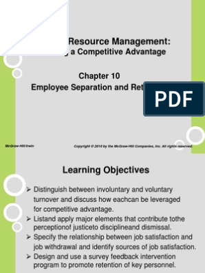 Employee Separation and Retention | Employee Retention
