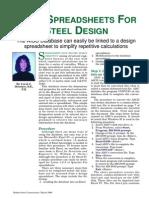 Using Spreadsheets for Steel Design