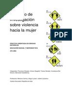 Investigación sobre VIOLENCIA HACIA LA MUJER