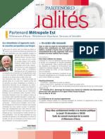 Partenord Actualités Métropole Est - décembre 2013