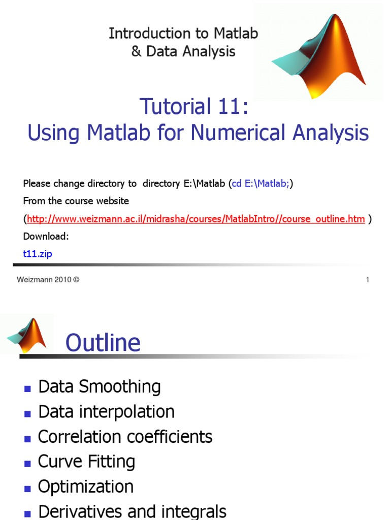 Introduction to Matlab Tutorial 11   Mathematical