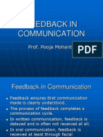 Feedback in Communication