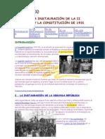 LA INSTAURACIÓN DE LA II REPÚBLICA Y LA CONSTITUCIÓN DE 1931