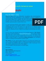 PFP Monthly Magazine -The Climate