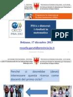 PISA e dintorni: i risultati in matematica