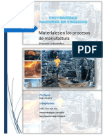 Materiales en Los Procesos de Manufactura
