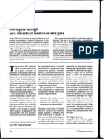 Six Sigma Design and Statistical Tolerance Analysis