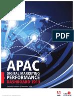 APAC Digital Marketing Performance Dashboard 2013 Executive Summary