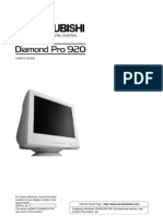 "Mitsubishi Diamond Pro 920 19"" Monitor Manual"