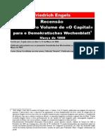 Friedrich Engels - Recensão do 1º Volume de «O Capital»