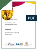 Primer Seguimiento Consejo Comunitario Comuna 13