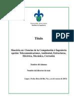 Protocolo para la presentacion de tesis y trabajos de grado