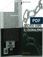Aime Cesaire Discurso Sobre El Colonialismo