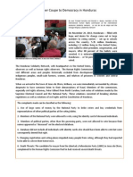 Another Coupe to Democracy in Honduras by Jose Trinidad Sanchez and Ricardo a. Bueso - English