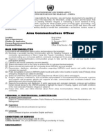 Area Communucations Officer