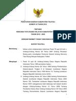 Peraturan Daerah Kabupaten Tolitoli Nomor 16 Tahun 2012 Tentang Rencana tata Ruang Wilayah Kabupaten Tolitoli Tahun 2012 - 2032