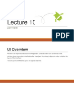 Lecture 10 ListView