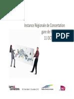 IRC PNO 2..instance régionale de concertation Paris Nord du 11 octobre 2013