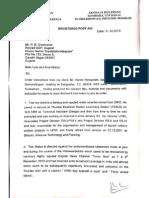 Former ISRO scientist Nambi Narayanan's legal notice to Ex-Gujarat DGP R.B. Sreekumar