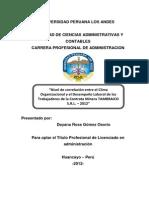 Proyecto de Tesis Clima Organizacional
