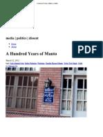 A Hundred Years of Manto « Kafila