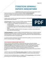CAP1 Caratteristiche Generali Delle Risposte Immunitarie