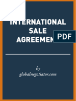 INTERNATIONAL SALE AGREEMENT SAMPLE