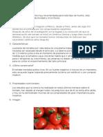 Informe Hortaliza Tomate