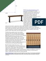 Solid Wood Pedestal Locker Benches