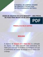 IDADE DE OBJETOS DE ALTO REDSHIFT – UMA