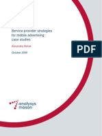Analysys Mason RR281 Service Provider Strategies for Mobile Advertising TOC