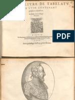 Albert de Rippe Second Livre de Tabelature de Luth 1562