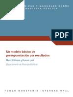 Un Modelo Basico de Presupuesto Por Resultados - Robinson