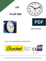 607092C LED Illumination Profil 960 Analogue Clocks Instructions