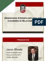Designing Exemplary Online Courses in Blackboard