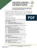 Edital Nº 0552013 Resultado PARFOR