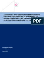 ASSESSMENT AND DESIGN RECOMMENDATIONS FOR IMPROVING READING PERFORMANCE OF UNDER-PERFORMING CHILDREN IN PRIMARY SCHOOLS ON NICARAGUA'S ATLANTIC COAST