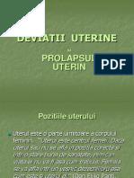 Deviatii Uterine+Prolaps Uterin