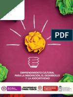 Cartilla Emprendimiento Cultural Para La Innovacion Desarrollo Asociatividad MinCultura 2013