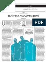Inclusión económica rural - Javier Escobal - El Comercio - 181213