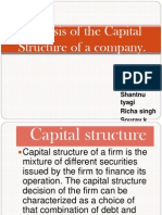 Analysis of the Capital Structure of a Company